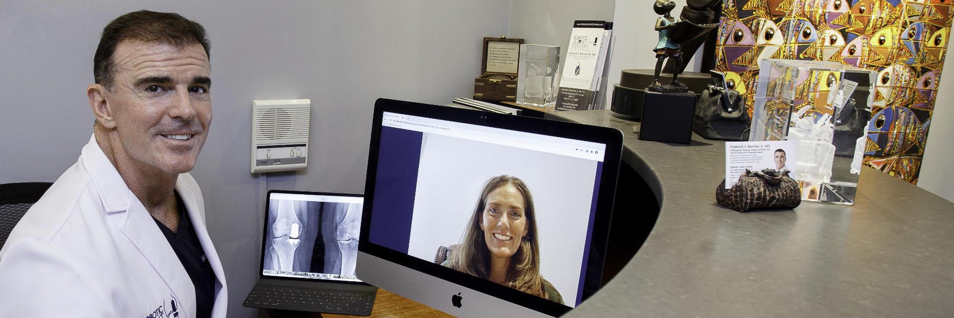 Dr. Buechel during online meeting.