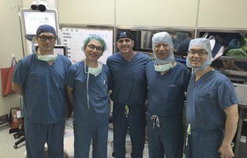 Dr. Buechel with Taipei Postal Hospital surgeons