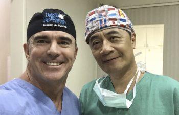 Dr. Buechel with a Taipei Postal Hospital surgeon
