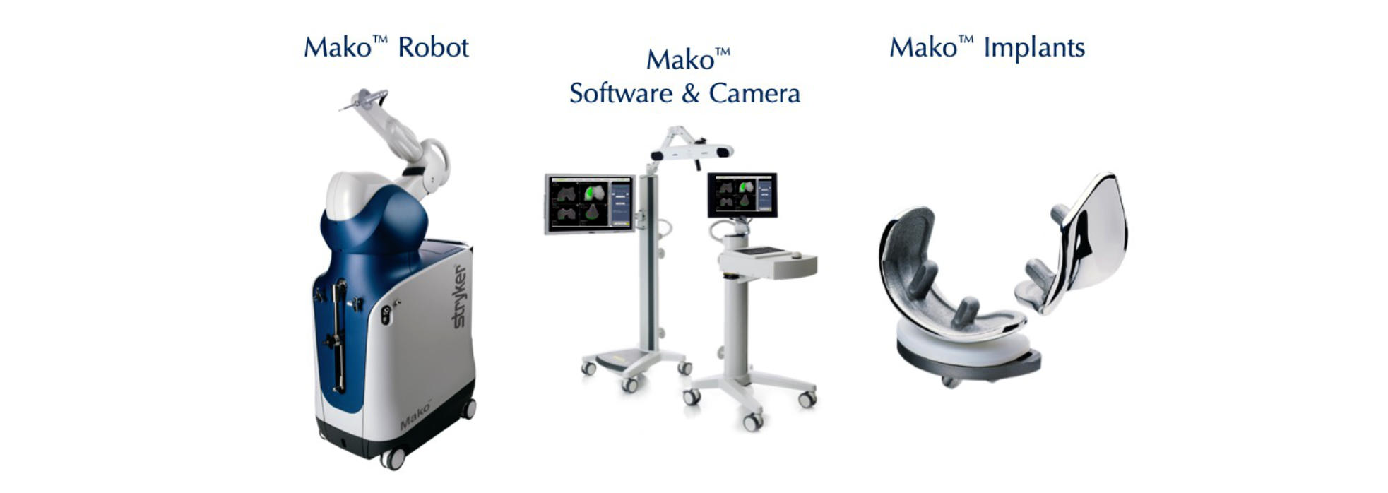 Mako Robotic Knee Replacement System and implants